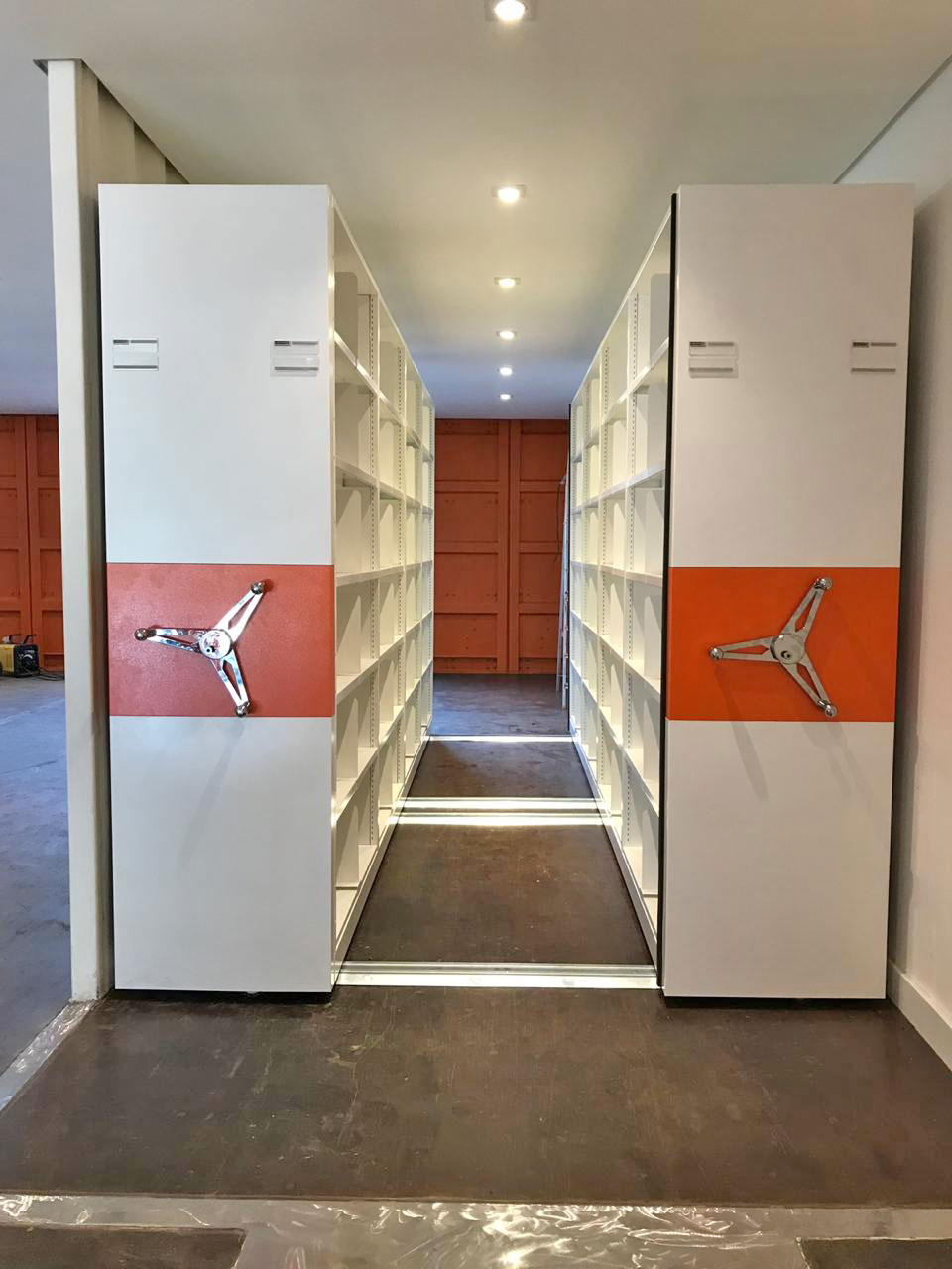 arquivo deslizante biblioteca container